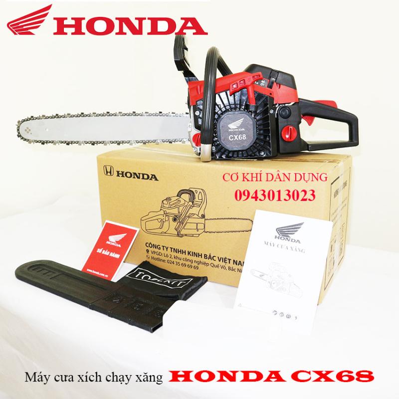 máy cưa xích cầm tay HONDA CX68 tặng bình pha nhớt, máy cưa cây lam 5 tấc 68cc