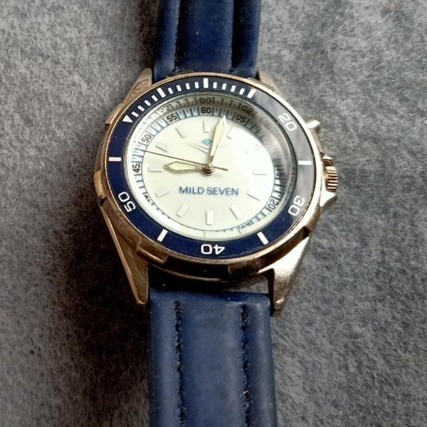 Đồng hồ nam mild seven niềng xoay, size 38mm, có đèn, hình thức 98%