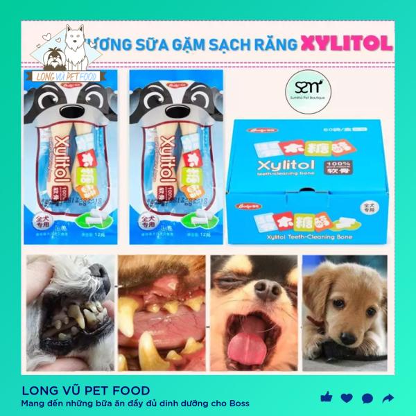 Xương sữa Xylitol cho chó mèo Phụ kiện Long Vũ