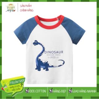 [ VIDEO ] E414 Áo thun bé trai 27KIDS chất liệu 100% cotton in hình khủng long BRACHISAURUS cho bé từ 10-33kg (2 tuổi -10 tuổi ) an toàn mềm mịn thích hợp cho bé đi học đi chơi thumbnail
