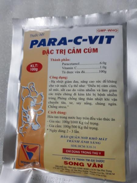 PARA-C-VIT ĐẶC TRỊ CẢM CÚM GÀ VỊT, CÚT