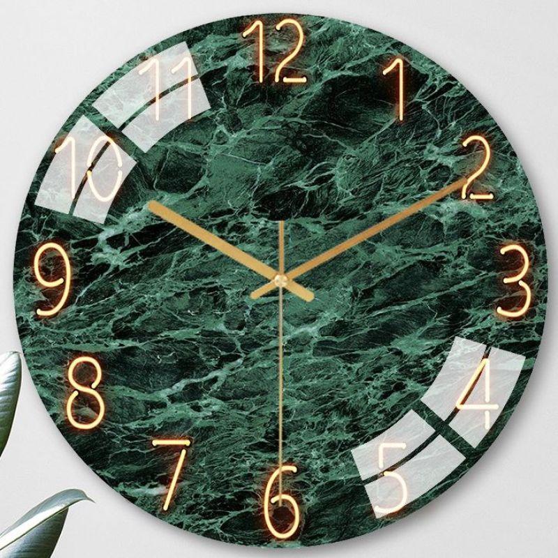 Nơi bán [ 08 Mẫu Cao Cấp] Đồng hồ treo tường Quartz kim trôi cao cấp 30cm - Không tiếng động