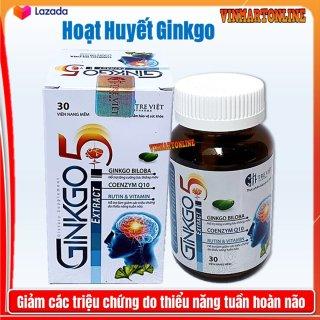 Hoạt huyết dưỡng não Ginko Nato 1200 Q10 France gruop với thành phần Ginkgo Biloba 360mg giúp giảm đau đầu, hoa mắt, chóng mặt, rối loạn tiền đình - Hộp 100 viên Ginkgo Biloba, cao đinh lăng, cao lạc tiên thumbnail