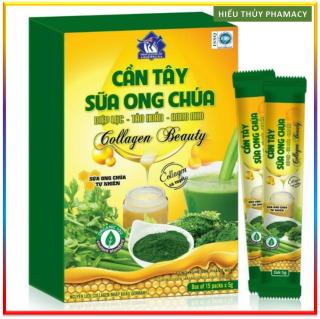 CẦN TÂY SỮA ONG CHÚA Diệp lục Tảo xoắn Rong Nho Collagen Beauty (75g được đóng thành 15 gói tiện lợi) đẹp dáng đẹp da thumbnail