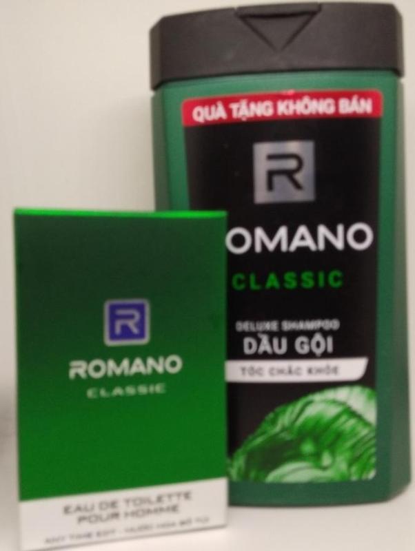 Combo Romano. 1 Dầu Gội Đầu Hương Nước Hoa Romano 150g , 1 Nước Hoa bỏ túi Romano 18ml tốt nhất