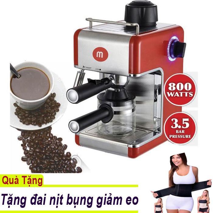 Máy pha cà phê espresso Mishio + Tặng đai nịt bụng giảm eo