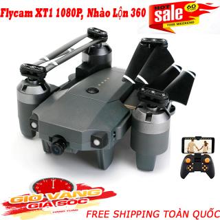 Flycam, Máy Bay Camera Giá Rẻ, Máy Bay Điều Khiển Từ Xa XT-1 Wifi 1080P, Flycam XT-1 Động Cơ Mạnh Mẽ, Camera Chống Rung Quang Học-Truyền Hình Ảnh Về Điện Thoại Thiết Kế Cánh Gập Tiện Lợi thumbnail