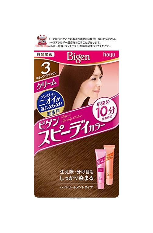 Thuốc Nhuộm Tóc Thảo Dược Bigen 3 Ngã Nâu sáng Nhật Bản tốt nhất