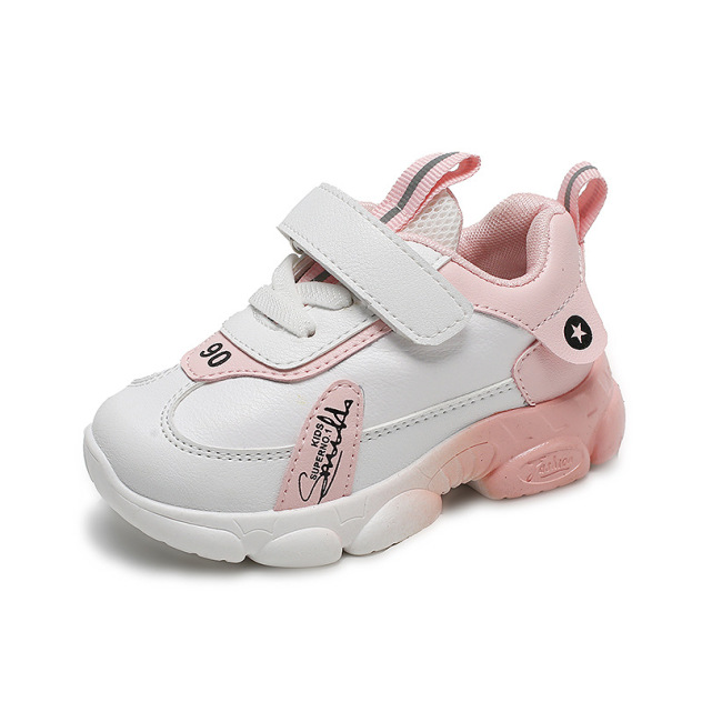 Giày cho bé gái thể thao cao cấp màu hồng thoáng khí, chất liệu PU siêu nhẹ dành cho bé 1-6 tuổi giá rẻ