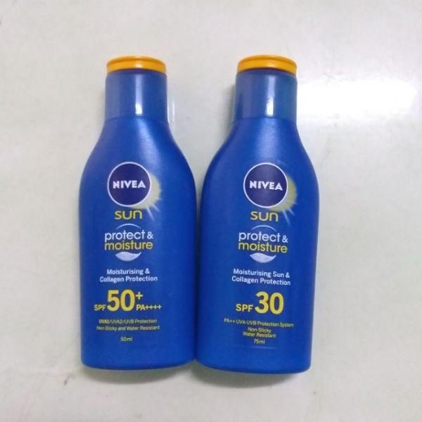 Sữa Chống Nắng Và Dưỡng Ẩm Nivea SPF50+ PA++++ 50ml Sun Protect & Moisture cho toàn thân cao cấp