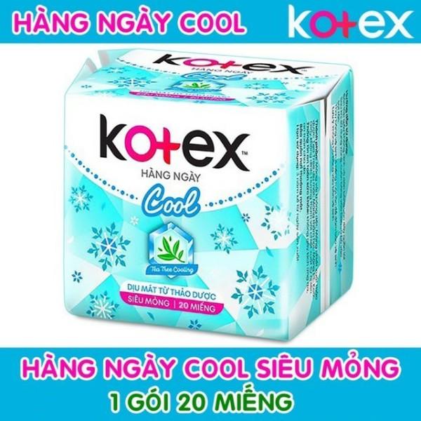Băng vệ sinh Kotex hằng ngày thảo dược cool gói 20 miếng cam kết hàng đúng mô tả chất lượng đảm bảo an toàn đến sức khỏe người sử dụng đa dạng mẫu mã màu sắc kích cỡ