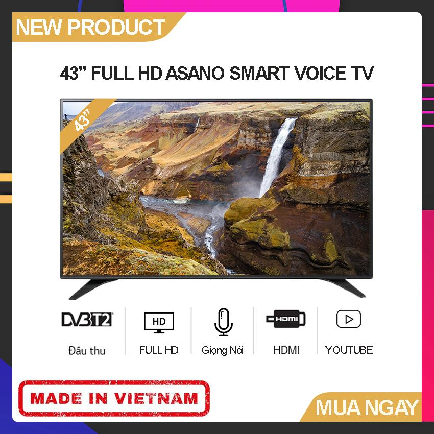 Bảng giá Smart Voice TV Asano 43 inch Full HD - Model 43EK7 (Android 7.1, Tích hợp giọng nói, Youtube, Tích hợp DVB-T2) - Bảo Hành 2 Năm