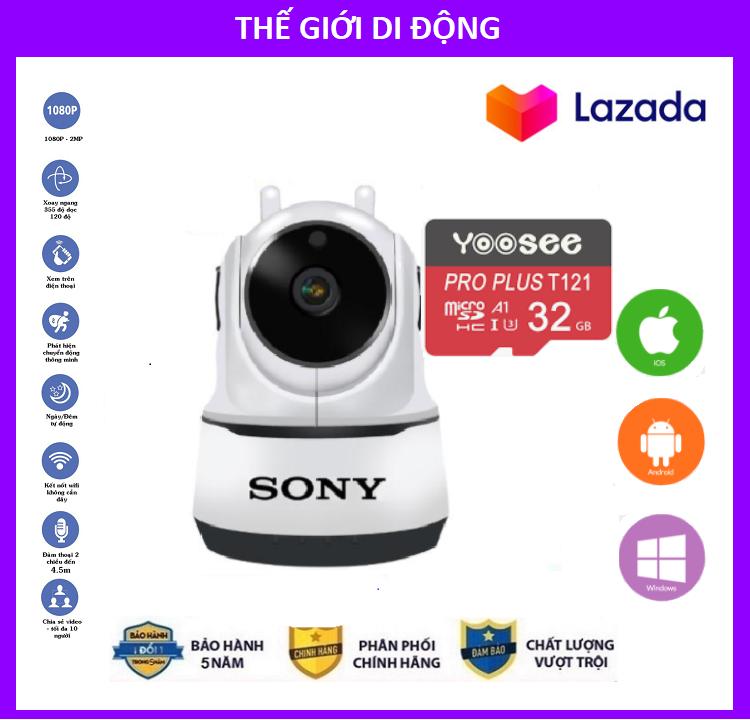 [Combo Camera thẻ YOOSEE 32GB BH 5 NĂM ] Camera Wifi Sony 3.0 Trong Nhà Sony 2 Râu 4.0 Mpx Full Hd 1080P, Hỗ Trợ 12 Đèn Hồng Ngoại