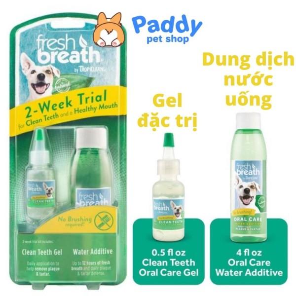 Set Gel & Dung Dịch Làm Sạch Răng Miệng Chó Mèo Tropiclean