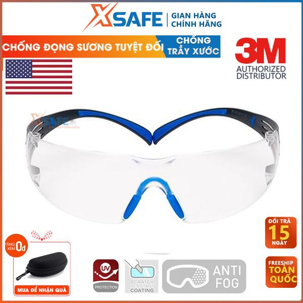 Giá bán Kính bảo hộ lao động- Kính bảo hộ 3M SF401SGAF kính chống bụi, chống hơi nước trầy xước vượt trội, ngăn chặn tia UV, mắt kính đi xe máy, lao động, phòng dịch, sản phẩm chính hãng [XSAFE]