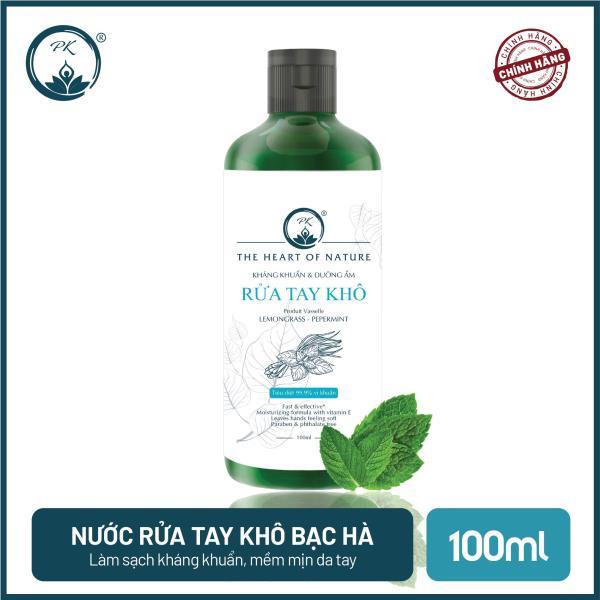 [SÁT KHUẨN] Nước rửa tay khô tinh dầu Bạc Hà PK 100ML – có kiểm định diệt khuẩn 99,9% giá rẻ