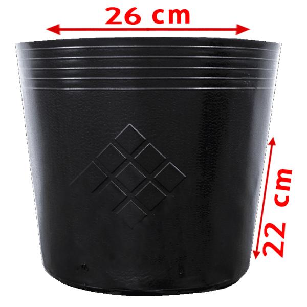 [HCM]50 Chậu C10 26x22cm nhựa PE dẻo trồng cây bền từ 5 đến 10 năm-77105