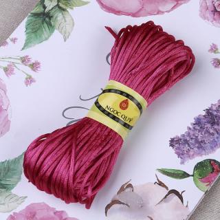 [HCM]Bó 10m dây tim bóng handmade loại 15mm - Dây vải bóng 1.5mm để đan vòng thắt dây handmade - Ngọc Quý Gemstones thumbnail