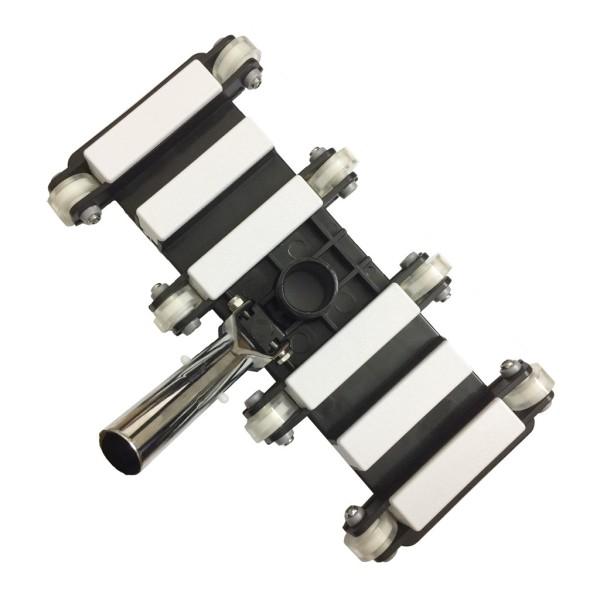 Bàn hút vệ sinh hồ bơi mã SC-12 có 8 bánh xe-bằng Nhôm chuyên dùng hút vệ sinh bề mặt và đáy hồ bơi- Màu Đen trắng -Thiết bị vệ sinh hồ bơi