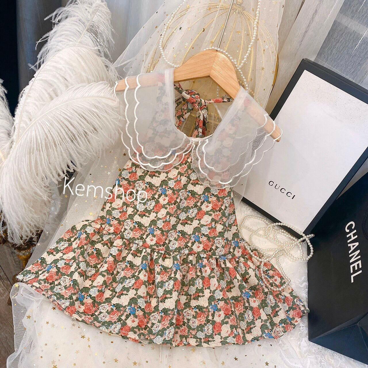 Siêu Tiết Kiệm Khi Mua Váy Hoa Cổ Sóng Cực Xinh Cho Bé - VBG-HCS