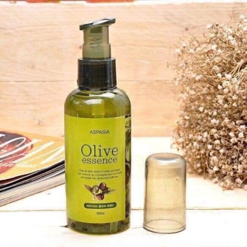 [Có Mã Giảm Giá] Tinh Dầu Dưỡng Tóc Olive Essence Aspasia 100ml phục hồi và dưỡng tóc dành cho các cô nàng - Tommy Store