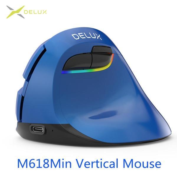 Bảng giá Delux M618 Mini 4.0 + 2.4GHz Không Dây Dọc Chuột 4 Bánh Răng DPI RGB Thiết Sạc Silent Click Chuột cho văn phòng Màu Hồng Phong Vũ