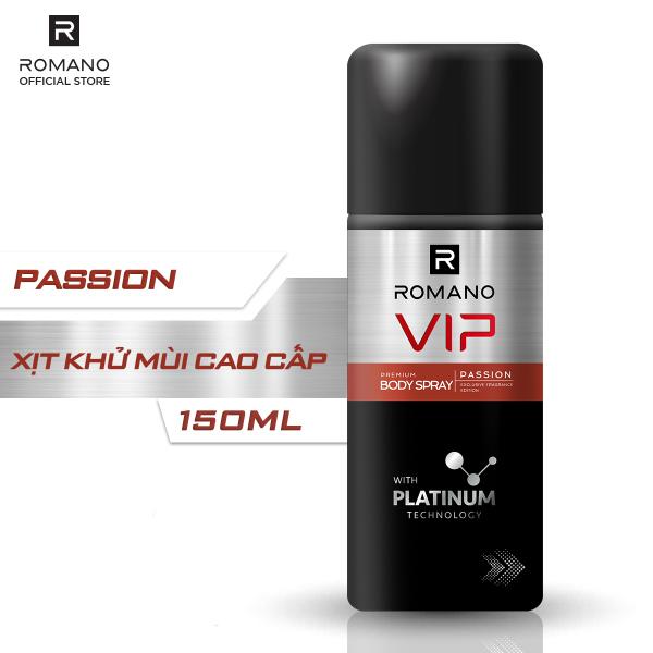 [Freeship] Xịt khử mùi cao cấp Romano Vip Passion sang trọng cuốn hút 150ml