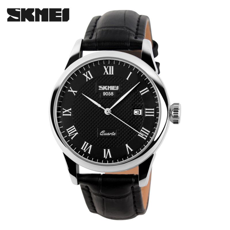 Đồng hồ nam SKMEI dây da thời trang đẳng cấp chống nước tốt SK021 - Đồng Hồ SKMEI Việt Nam