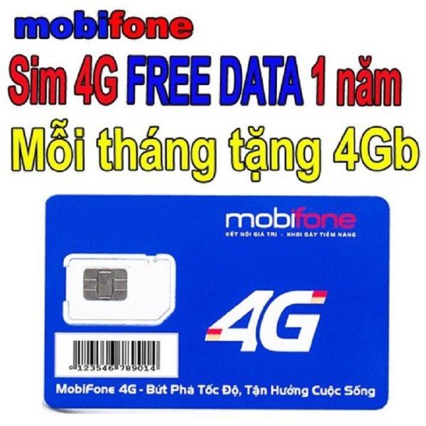 Siêu sim 3g 4g data mobi 4g/tháng bao xài 1 năm không tốn phí gia hạn