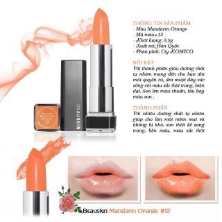 Son môi lâu trôi nhiều dưỡng Beauskin Crystal Lipstick No.12 3.5g (Cam sáng) thumbnail