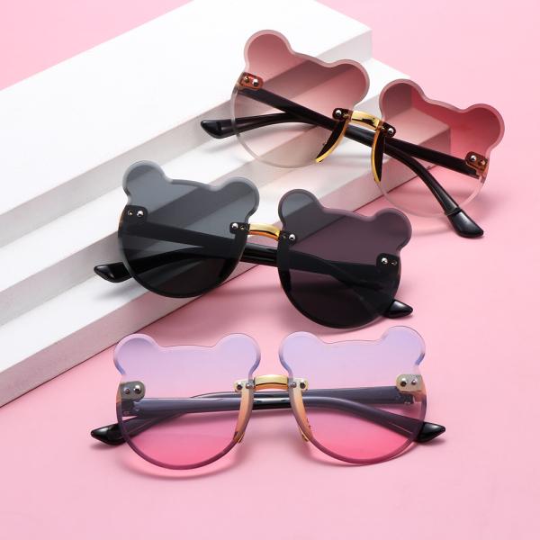 Giá bán PHYSILOLOGY UNINHABITED86ED8 Cute UV400 Party Outdoors Children Rimless Sun Glasses Eyewear Kids Sunglasses Cartoon Bear