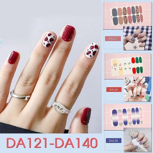 Sticker dán trang trí móng tay họa tiết dễ thương mã DA121 - DA140