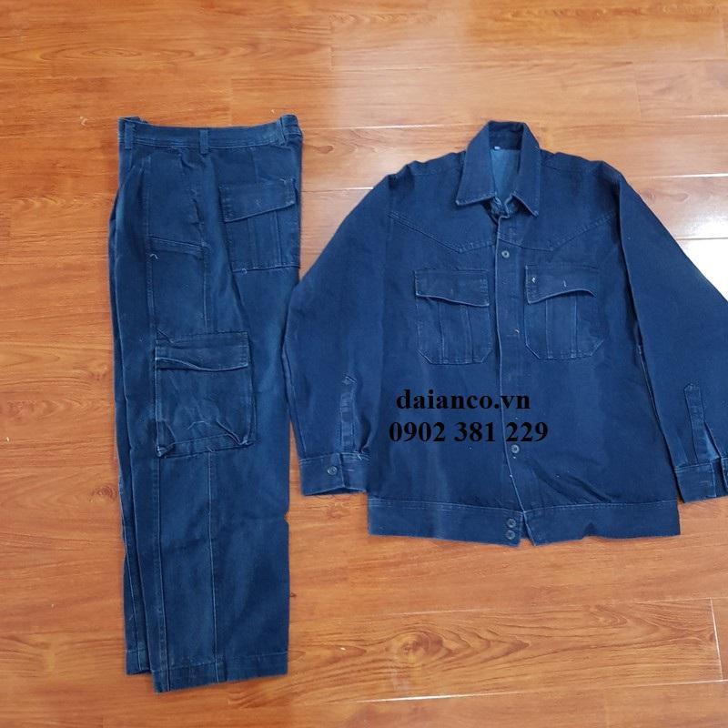 KHUYẾN MÃI -  Quần, Áo jeans Điện Lực xanh đen - Đủ Size - Chất dày dặn