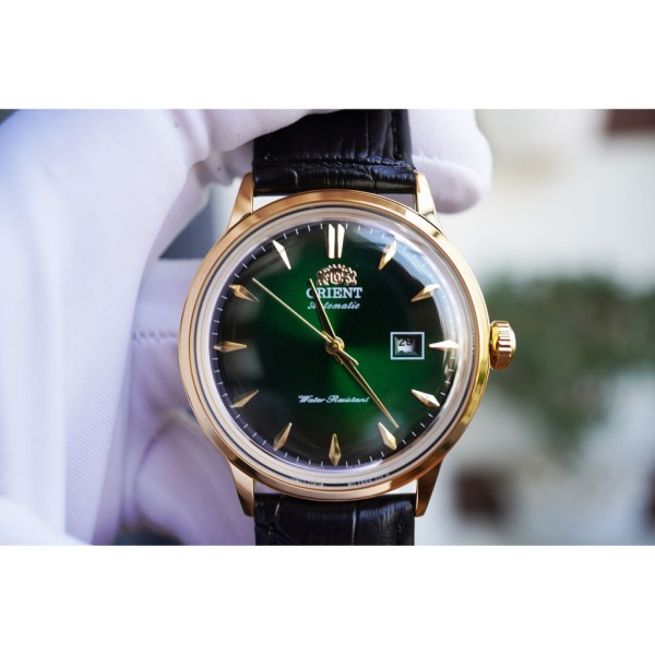 Nơi bán Đồng hồ nam Orie Bambino Gen 1 FAC00002W0 mặt xanh viền vàng hồng case 40.5mm. 3atm