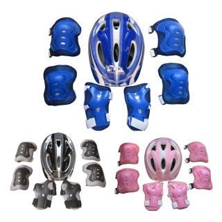 Mũ bảo hiểm + Đầu gối + Đệm khuỷu tay 7 chiếc Bộ An toàn cho trẻ em Mũ bảo hiểm Trượt băng Trượt băng đầu gối Bộ đệm cổ tay cho Xe đạp Đạp xe Trượt ván Đồ bảo hộ cho Bé trai và Bé gái thumbnail