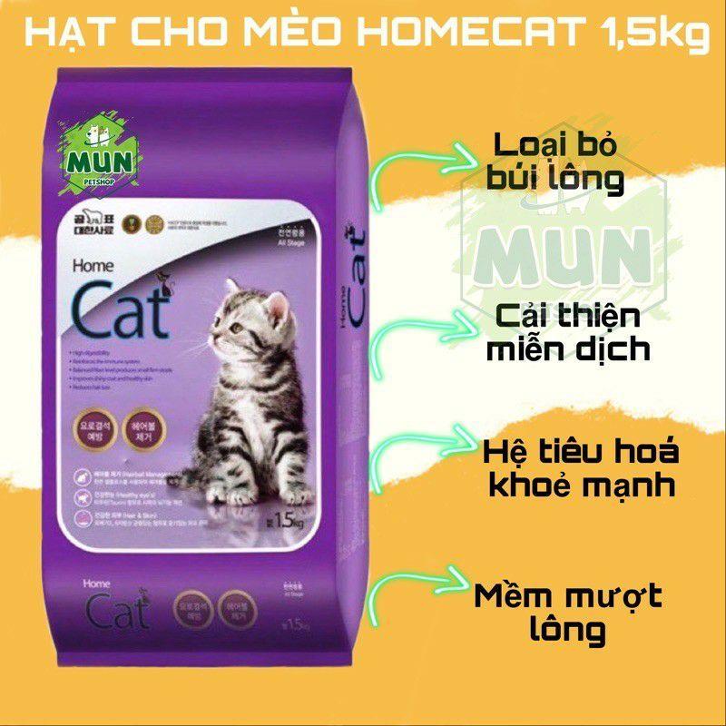 Thức ăn hạt cho mèo HOMECAT túi 1,5kg