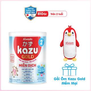 [Tinh tuý dưỡng chất Nhật Bản] Sữa bột KAZU MIỄN DỊCH GOLD 810g 2+ thumbnail