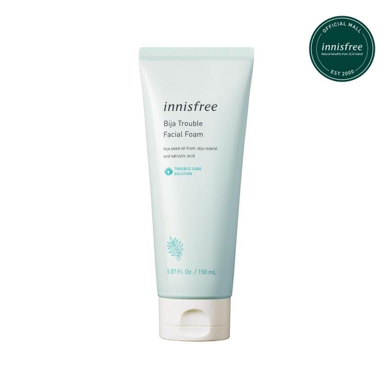 Sữa rửa mặt dành cho da mụn innisfree Bija Trouble Facial Foam 150ml