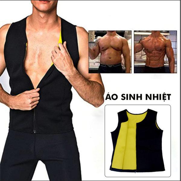 Áo sinh nhiệt giảm mỡ giúp làm thon gọn, săn chắc cơ thể áo rộng mặc thoải mái, chất liệu tốt thấm mồ hôi
