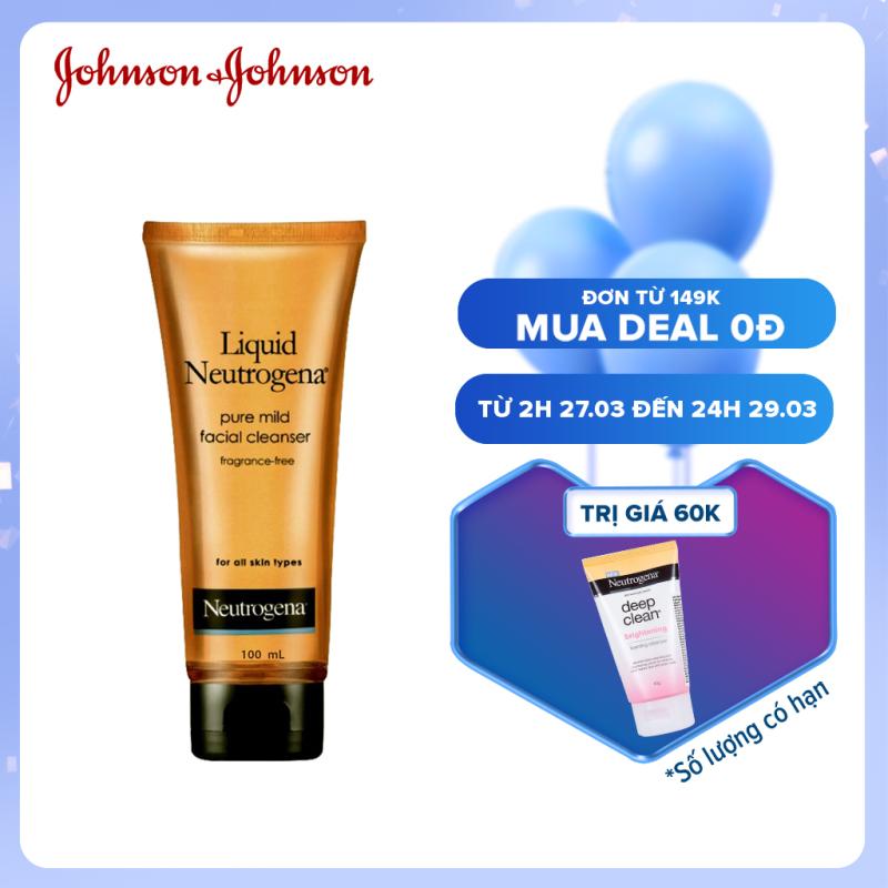 Nước rửa mặt dịu nhẹ liquid Neutrogena pure mild facial cleanser 100g 101005925