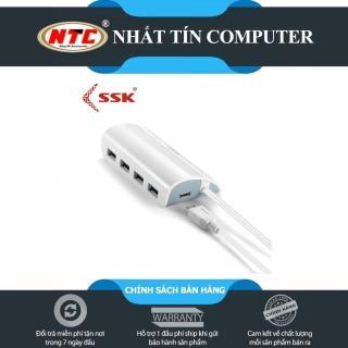 [HCM]HUB chia cổng USB 4 port SSK SHU808 chuẩn 3.0 dành cho máy tính - dây dài 1m (Trắng) - Nhất Tín Computer thumbnail