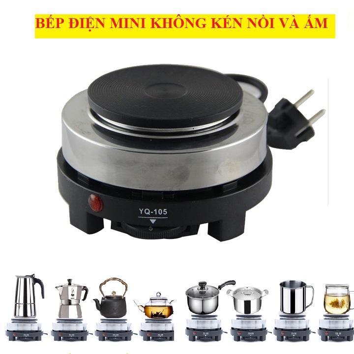 Bếp Điện mini pha cà phê, pha trà, nấu nước không kén nồi và ấm