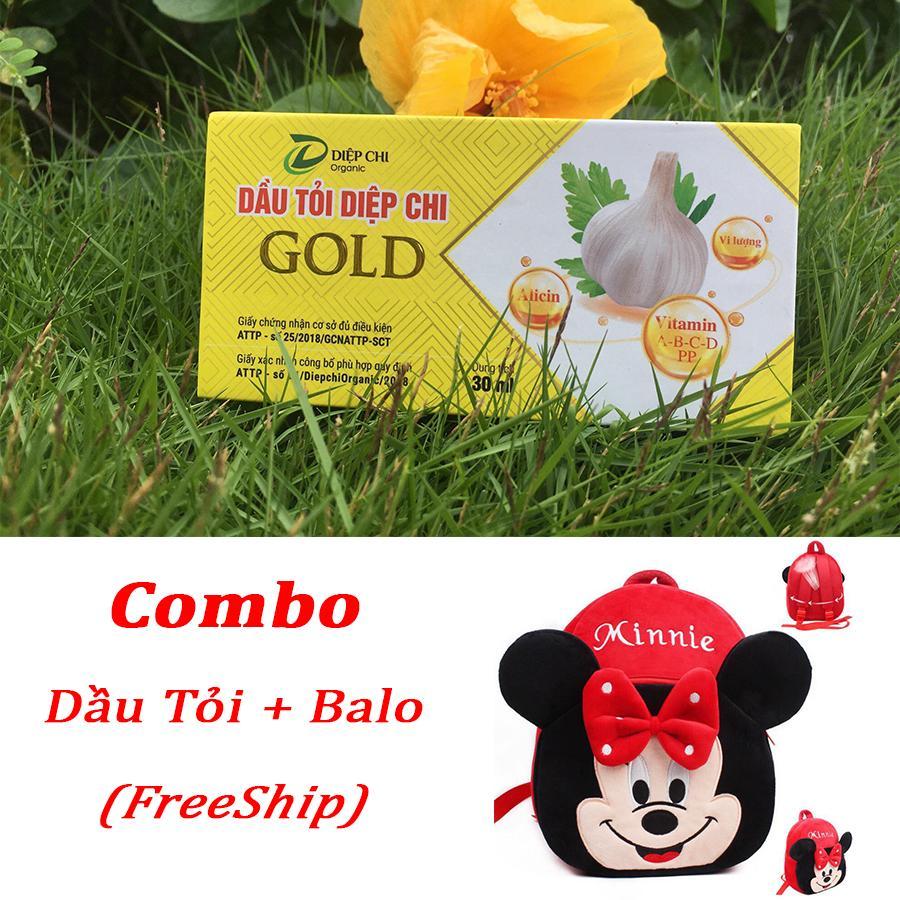 Giá bán Combo Dầu Tỏi Diệp Chi & Balo Hình Thú Cưng Cho Bé