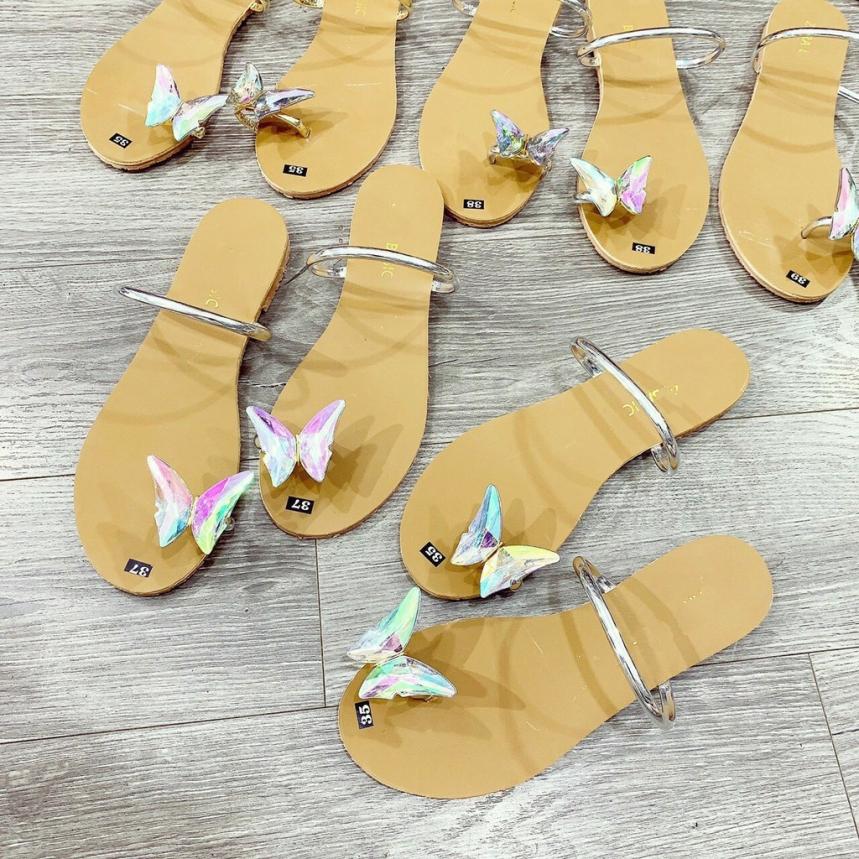 Dép bệt xỏ ngón khóa bướm sắc màu hottrend giá rẻ
