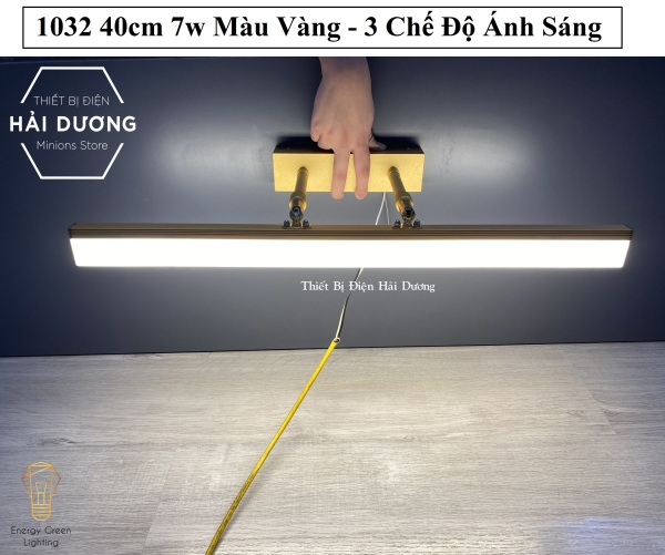 Đèn soi tranh - Đèn rọi gương Led Model 1032 40cm 7w 3 Chế Độ Ánh Sáng - Điều chỉnh được góc chiếu