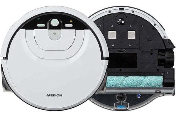 Rô bốt lau nhà Medion MD 18379, Màu Trắng, Công suất 22W, Độ ồn 50 dB, khăn lau bằng con lăn, 4 chế độ làm sạch (Nhập Đức)