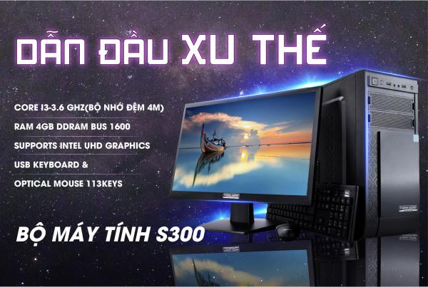 Bảng giá Bộ Máy Tính Để bàn Model S300 Thánh Gióng - Core i3 - Màn hình 19.5 inch - Bảo Hành 24 tháng Phong Vũ
