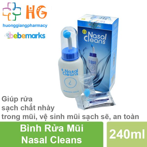 Bình rửa mũi Nasal Cleans - Dùng cho các trường hợp nghẹt mũi, bị cảm, viêm xoang, viêm mũi (Bình 240ml)