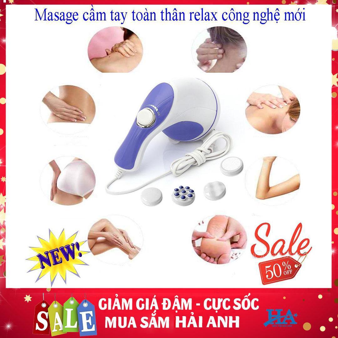 Máy matxa cầm tay, thư giãn đánh mỡ bụng giảm mỡ toàn thân Relax and Spin Tone, máy massage toàn thân, máy massage lưng, matxa bung bang may, máy massage cầm tay đa năng  GDQUY26 cao cấp