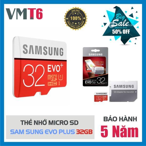 Thẻ Nhớ Sam Sung 80MB-S 32GB EVO Plus 10 Micro SDXC 32GB - Bảo hành 5 năm!